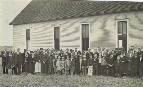vintage photo of congregation