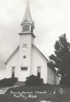 Presbyterian Church - Tustin, Michigan - Vintage Photo, Date Unknown