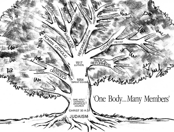The History of the Covenant and Presbyterian Churches illustrated into a Family Tree